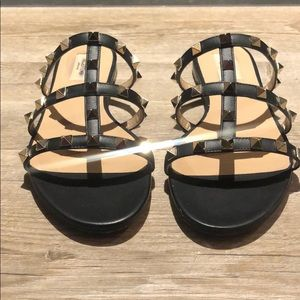 ValentinoLeather Rockstud Sandals